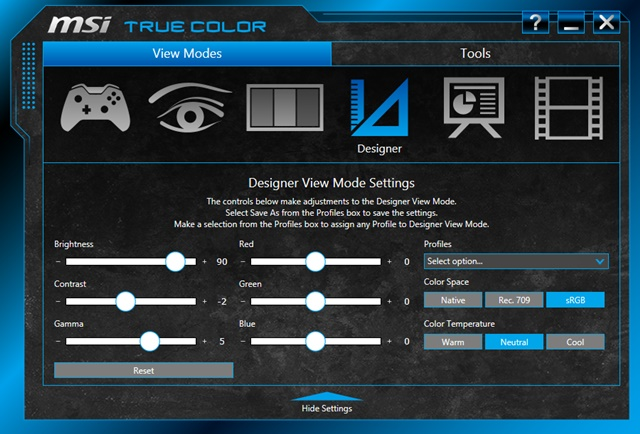 MSI True Color