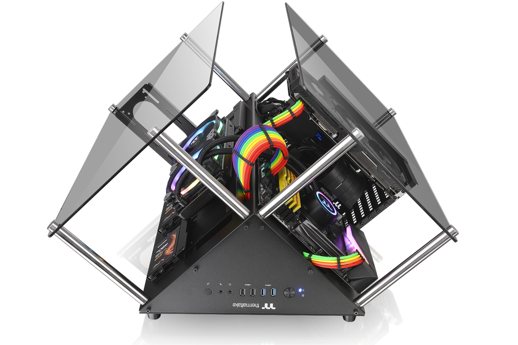 Thermaltake Core P90 Tempered Glass Edition hexagonal prism shape